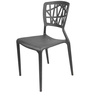 Cosmos Stackable Chair in Black Colour by Starshine