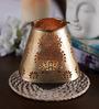 Courtyard Golden Iron Belur Votive Tea Light Holder