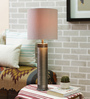 Courtyard Nagaband Grey Metallic Table Lamp With White Texture Shade