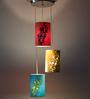 Craftter Anthemion Design Multicolour 5W LED Hanging Lamp - Set of 3