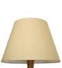 Craftter Tusser Silk Light Yellow Wooden Floor Lamp