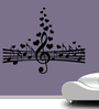 Creative Width Vinyl Love for Music Wall Sticker in Black