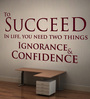 Creative Width Vinyl Success with Confidence Two Wall Sticker in Burgundy