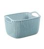 Curver 03674 Plastic Blue 8 L Knit Rectangular Extra Small Storage Basket