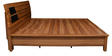 Daffodil King Bed with Storage in Teak Finish by Royal Oak