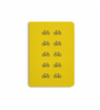 DailyObjects Multicolour Paper Yellow Cycle Plain A6 Notebook