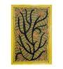 De Kulture Works Handmade Paper 7.5 x 11 Inch Fireflies Painting