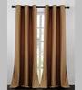 Deco Essential Brown Jacquard Dot Box 60 x 46 Inch Single Panel Curtain - Set of 2