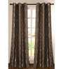 Deco Essential Brown Polyester 90 INCH Door Curtain - Set of 2