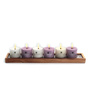 Decoaro Lavender Aromatic Frost Mist Candles - Set of 6