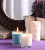 Decoaro Ocean & Waterlily Aromatic Glass Candle - Set of 2