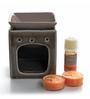 Decoaro Orange Ceramic Aromatic Small Burner with T-Light