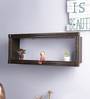 Decorhand Brown Wood & MDF Carving Work Wall Shelf