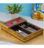 Decotrend Peacock Ornate Pink Synthetic Wood Cutlery Holder