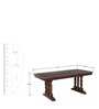 Clayton Six Seater Dining Set in Passion Mahogany Finish by Amberville