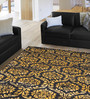 Designs View Multicolour Wool & Viscose 96 x 60 Inch Hand Tufted New Damask Carpet