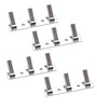 Doyours Chrome White Metal 7 Inch Robe Hook Rail - Set of 4