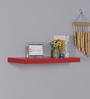 DriftingWood Red MDF Single Floating Wall Shelf