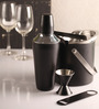 Dynamic Store Stainless Steel 750 ML Black Color Bar Set - Set of 5