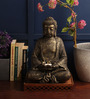 Earth Rust Polyresin Buddha Statue with Tealight Holder