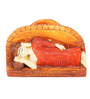 Earth Multicolor Polyresin Sleeping Buddha Card Holder