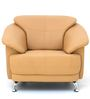 Edo One Seater Sofa in Camel Colour by Furnitech