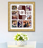 Elegant Arts and Frames Cream Wooden 26 x 1 x 28 Inch Selfies Pattern 2 Collage Photo Frame