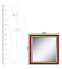 Elegant Arts and Frames Red Wooden Cherry Decorative Wall Mirror