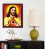 Elegant Arts and Frames Canvas 18.5 x 22.5 Inch Sacred Heart Framed Digital Art Print
