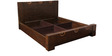 Enrique Queen Bed with Storage in Wenge Colour by HomeTown