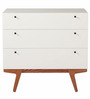 Enzo Three Drawers Chest Of Drawers in White Colour by Asian Arts