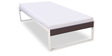 Eq Metallic Single Bed in Off White & Brown Finish by Godrej Interio