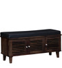 Escobar Three Door Shoe Rack with Seating in Provincial Teak Finish by Woodsworth