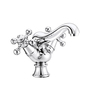 ESSESS by Asian Paints Silver Brass Centre Hole Basin Mixer without Popup Waste System with 450 mm Long Flexible Hose