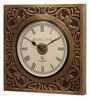 Ethnic Clock Makers Gold MDF & Metal 10 Inch Round Wall Clock