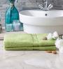 Eurospa Paradise Green Cotton Bath Towel - Set of 2