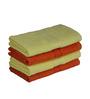 Eurospa Saffron & Yellow Cotton 24 x 16 Paradise Hand Towels - Set of 4