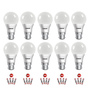 Eveready Cool Day White 9 W B22 Pin Type LED Bulbs - Set of 10 with 20 Batteries