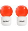 Eveready Orange 0.5 W Deco LED Plug & Play - Set of 2