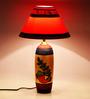 ExclusiveLane White & Red Polyvinyl & Terracotta Lamp
