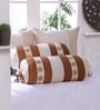 Eyda Ivory Polyester 16 x 30 Inch Damask Bolster Covers - Set of 2