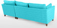 Farina LHS Sofa with Lounger in Aqua Blue Colour by Furny