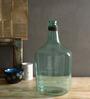 Fabuliv Aqua Brass & Glass 7.5 X 14 Inch Vase