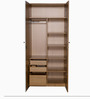 Fiesta Two Door Wardrobe in Brown Colour by Godrej Interio