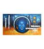 Fizdi Canvas 38 x 0.2 x 20 Inch Blue Shade of Buddha Unframed Art Painting