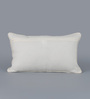 Floor and Furnishings White Cotton 20 x 12 Inch Amer Cushion Cover