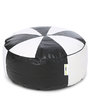 Floor Cushion Filled with Beans in Black & White Colour by Can