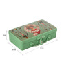 Fluke Design Company Cards Girl Decoupage Green Aluminium 7.1 x 3.9 x 2 Inch Keepsake Box