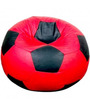 Football XXL Bean Bag with Beans in Red and Black Colour by Sattva