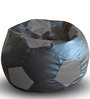 Football Bean Bag XXL size in Black & Grey Colour with Beans by Style Homez